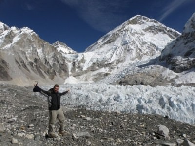 Backpacking Buddies: Russell Sneddon at Everest Base Camp