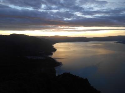 Backpacking in Guatemala: Hiking to Indian's Nose at Lago Atitlan.