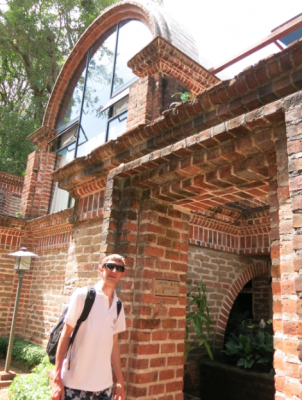 Hotel San Buenaventura Panajachel - stunning brick work building we stayed in.
