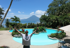 Our amazing night of relaxation at Hotel San Buenaventura Panajachel, Guatemala.