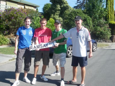 Ramsay Street with the lads!