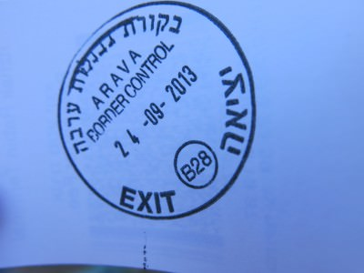 Get your exit stamp on a separate piece of card.