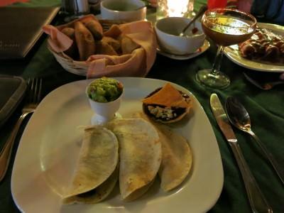 My taquitos de chicharron (pork meat tacos)