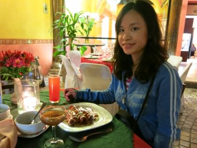 Friday's Featured Food: Panny celebrates her birthday at Plaza Real Restaurant in San Cristobal de las Casas, Mexico.
