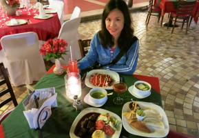Friday's Featured Food: Dinner in Plaza Real, San Cristobal de las Casas.