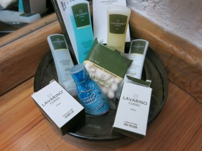 Superb range of fresh toiletries at Casa Morada.