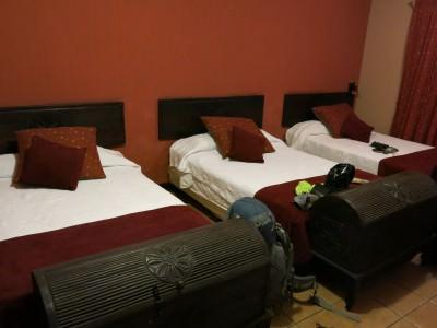 Our comfy room in Hostal 7 Orejas.