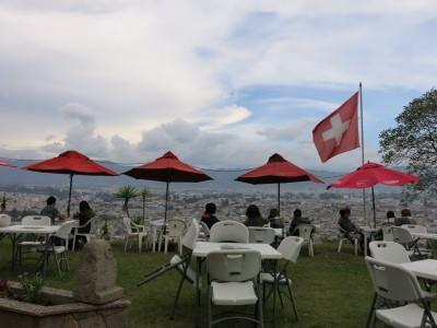 The Swiss owned Panorama restaurant in Xela.