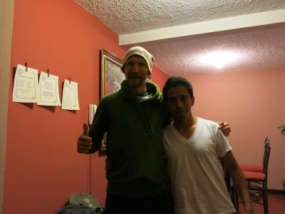 With Anthony in Hostal 7 Orejas!
