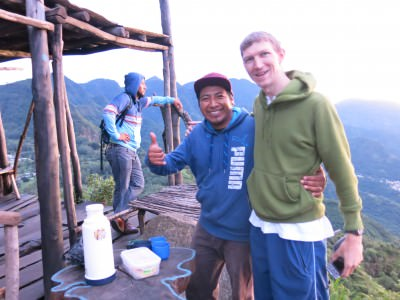 With my guide Elmer from Guatemala Sur Mesure.