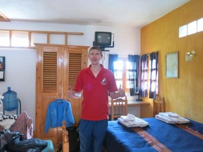 In our room at Posada Los Encuentros.