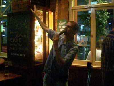 Singing and winning the karaoke competition on a crazy night out in Melbourne!