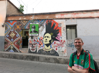 Cool grafitti in Oaxaca de Juarez, Mexico.