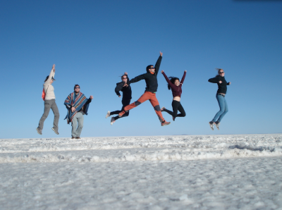 World Travellers: Manouk, Bunch of Backpackers in Uyuni, Bolivia.