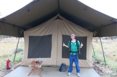 Camping in the Serengeti - my luxury tent in the jungle!