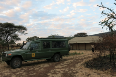 Arrival at our camp in the Serengeti