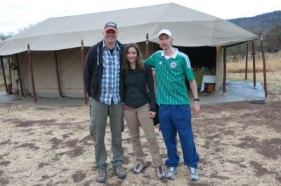With Raymond and Annette - fun times in the Serengeti!