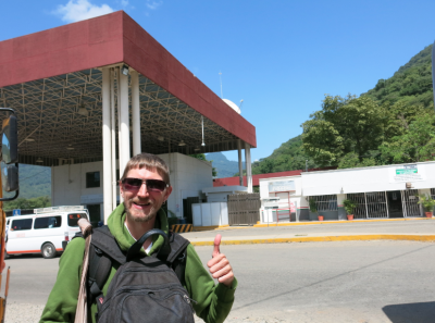 The immigration checkpoint in Ciudad Cuauhtemoc, Mexico.