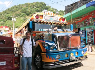 The chicken bus from la Mesilla to Huehuetenango.