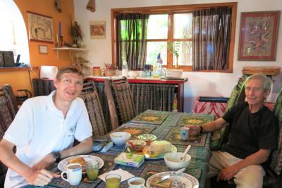 Breakfast with Richard Morgan.