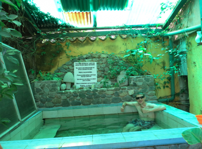 Loving the hot tub in Posada Los Encuentros.