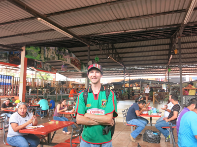 Backpacking in San Pedro Sula Honduras Plaza Tipica