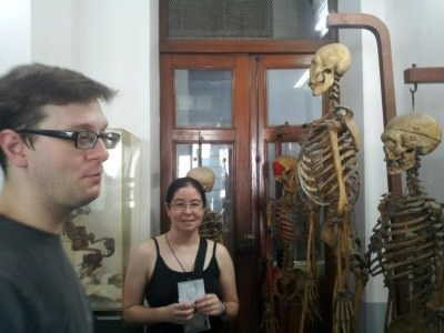 World Travellers: Chris and Laura with skeletons 2013