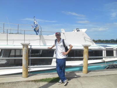In Placencia waiting for the boat to Puerto Cortes