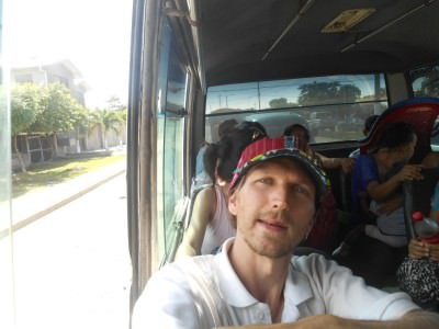 On the minibus to San pedro Sula.