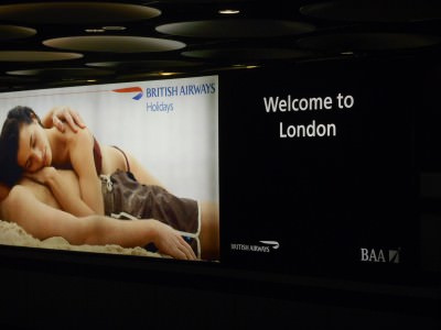 London Baby arrival from a British Airways flight.