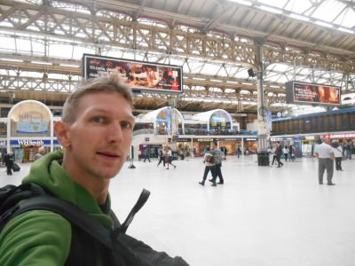 Arrival back in good old London town.