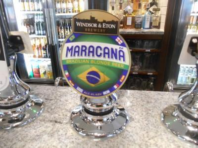 Maracana Beer in Wetherspoons.