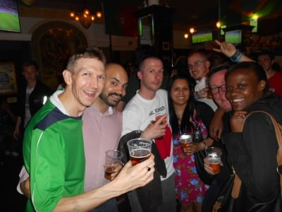 Another reunion in Verve Bar, Picadilly.