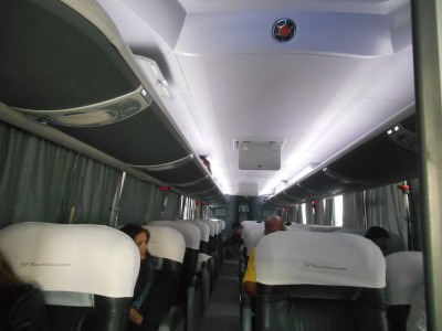 King Quality bus from Guatemala City to San Salvador.