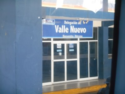 Guatemalan exit point at Valle Nuevo.