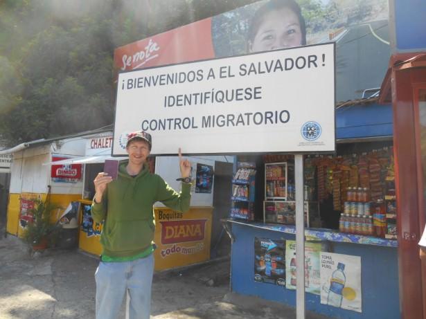 Arrival in El Salvador.