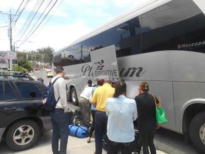 Arrival in San Salvador, El Salvador.