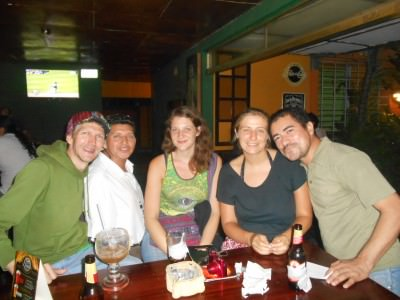 First night out in San Salvador at Leyendas - first of many!!