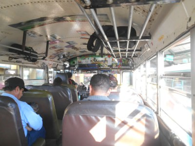 The bus from Sonsonate to Barra de Santiago.