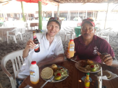 Lunch at Rancho Yigo, Barra de Santiago