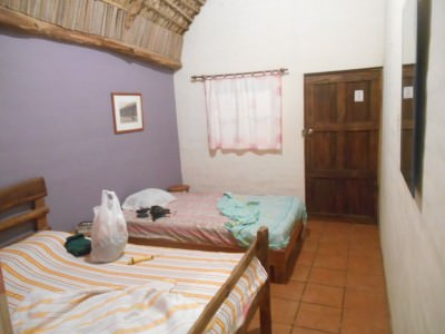 My room in Capricho Beach House, El Salvador.