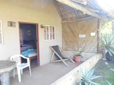 My room at Capricho Beach House in Barra de Santiago, El Salvador.