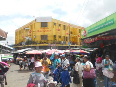 Mercado Colon - crazy market area.