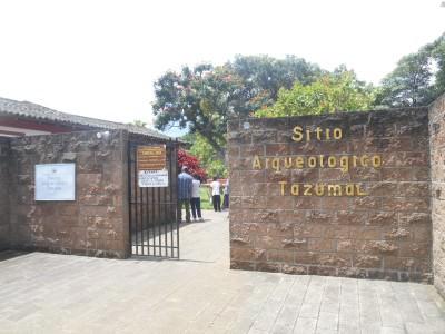Sitio Arquelogico Tazumal entrance.