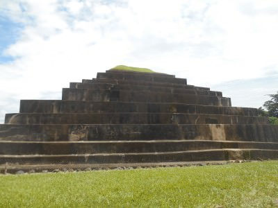 The pyramid was built in 6 different stages.