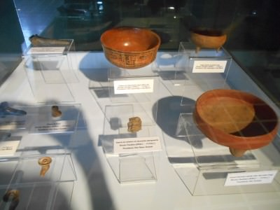 Relics in the museum at Tazumal