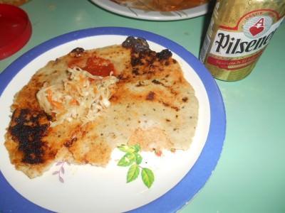 Pupusa y Cerveza in Nejapa.