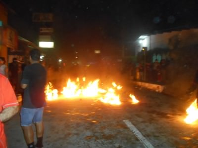 Crazy crazy night of travel - attending the fire ball festival in Nejapa, El Salvador.