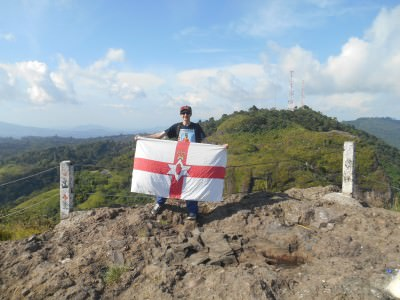 Flying my Northern Ireland flag at Puerta del Diablo
