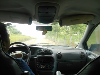 The minibus drive to the entrance